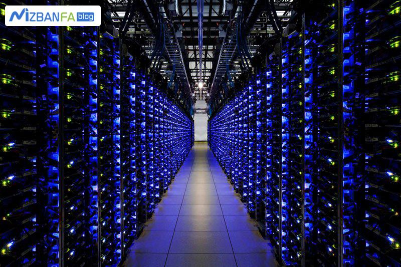 چراغ های سرور های دیتاسنتر گوگل