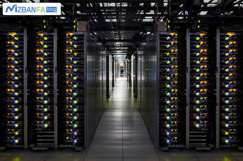رک های دیتاسنتر douglas گوگل در فنلاند