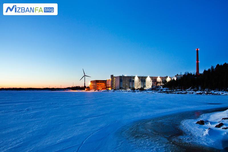 یخ های دیتاسنتر های گوگل در خلیج فنلاند