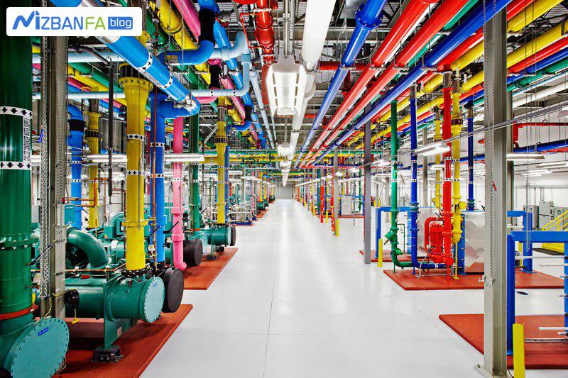 لوله های رنگی دیتاسنتر گوگل