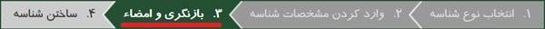 مرحله بازنگری و امضا در هنگام ساخت شناسه در ایرنیک
