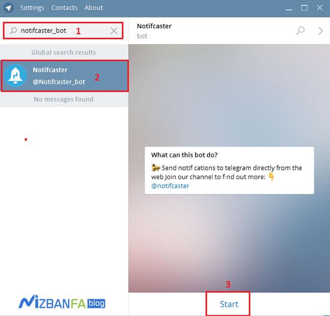 پیدا کردن ربات تلگرام جهت اتصال به وردپرس