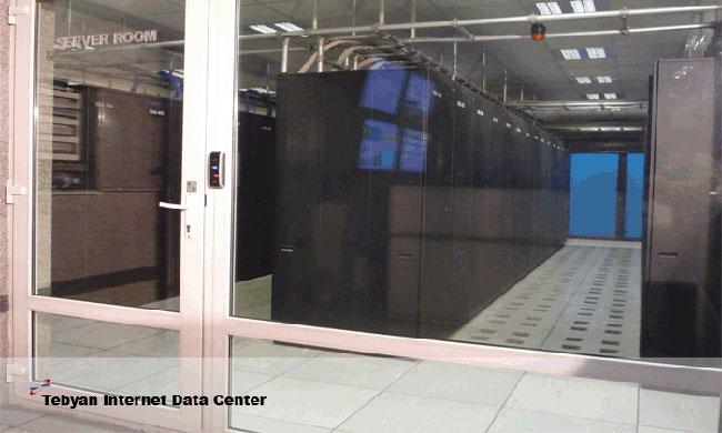 اتاق اصلی سرور ها در دیتاسنتر تبیان ایران