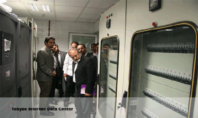 دیدار مسئولین از تجهیزات تامین برق دیتاسنتر تبیان در ایران