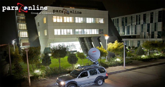 ایستگاه ماهواره ای سیار دیتاسنتر پارس آنلاین ایران