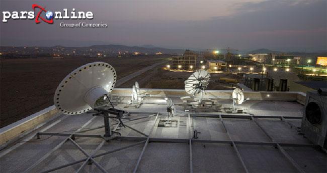 ارتباطات ماهواره ای در دیتاسنتر پارس آنلاین ایران