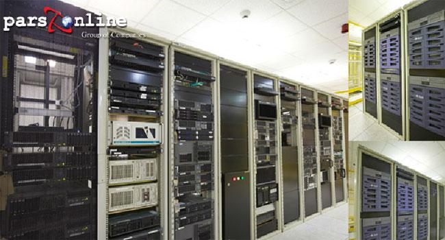 تجهیزات شبکه و سوئیچ ها در دیتاسنتر پارس آنلاین ایران