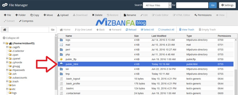 ایجاد لینک دانلود برای فایل های هاست