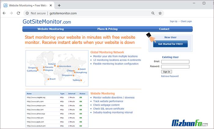 Got Site Monitor ابزار مانیتورینگ سایت