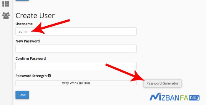 تغییر password ورود به صفحه مدیریت سایت