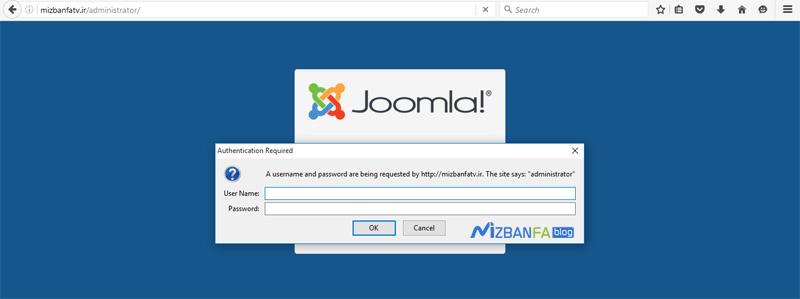 رمز قرار گرفته بر روی مدیریت جوملا و افزایش امنیت