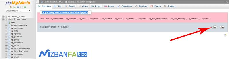 نحوه ایمپورت اطلاعات داخل phpmyadmin