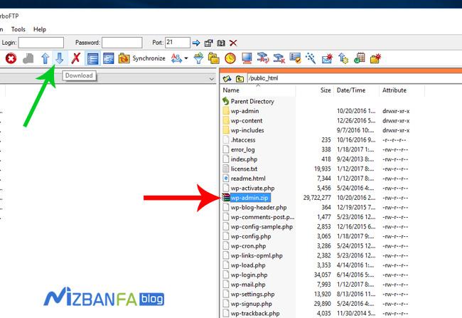 نحوه آپلود و مدیریت فایل ها در هاست توسط نرم افزار turboftp