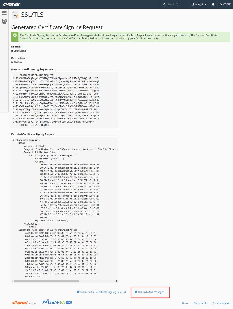 آموزش تصویری نصب ssl در سی پنل