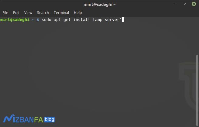 آموزش نصب برنامه lamp در لینوکس