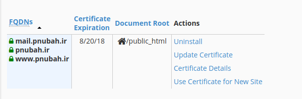 آموزش نصب ssl در هاست سی پنل