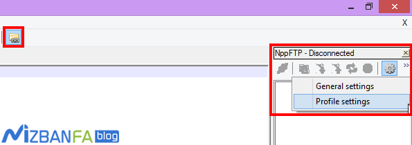 آموزش اتصال ++notepad به هاست سایت
