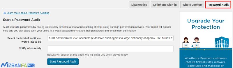 بررسی رمز عبور کاربران در وردپرس