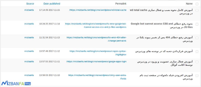 نمایش مطالب سایر سایت ها در وردپرس