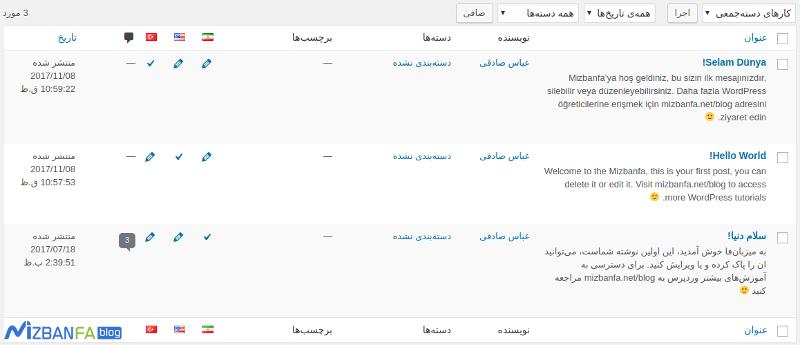 ترجمه مطالب وردپرس به سایر زبانها