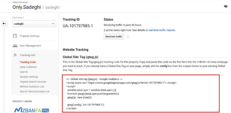 نحوه اتصال آمارگیر گوگل آنالیتیکس به وردپرس