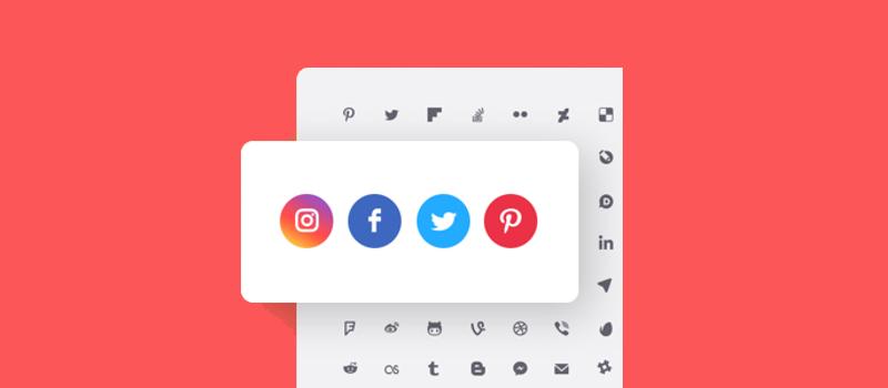 آموزش آیکون شبکه های اجتماعی در وردپرس