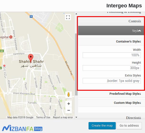 نمایش موقعیت مکانی وردپرس روی نقشه گوگل