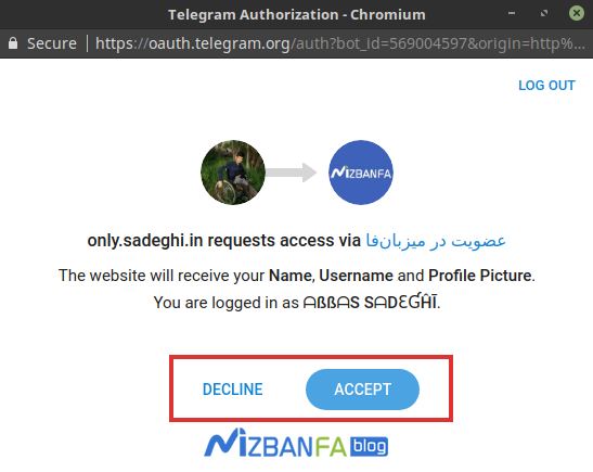 افزودن عضویت با تلگرام در وردپرس | ثبت نام با اکانت تلگرام در وردپرس