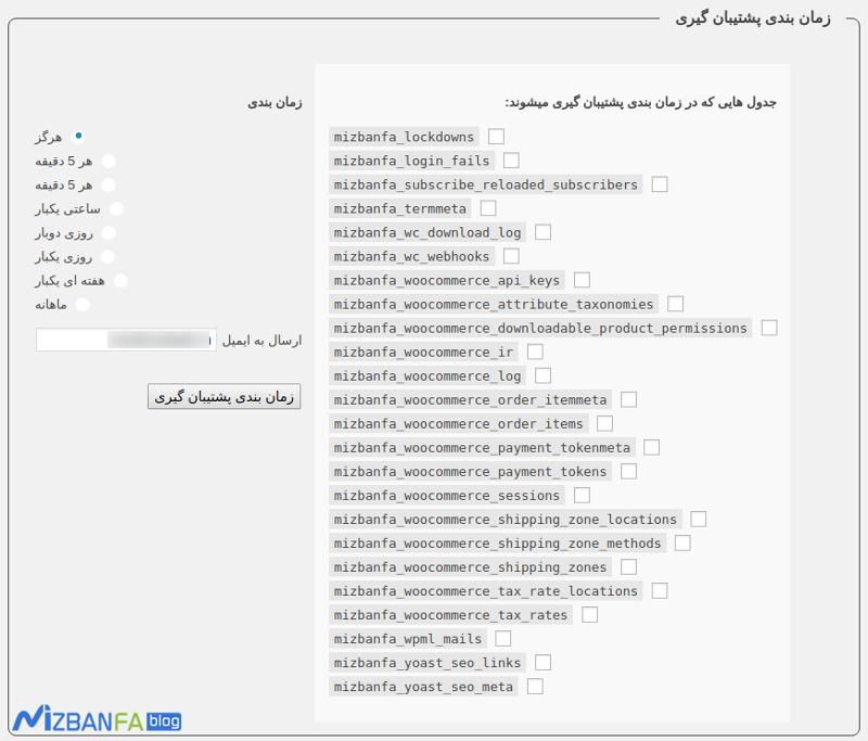 نحوه تهیه نسخه پشتیبان از پایگاه داده وردپرس