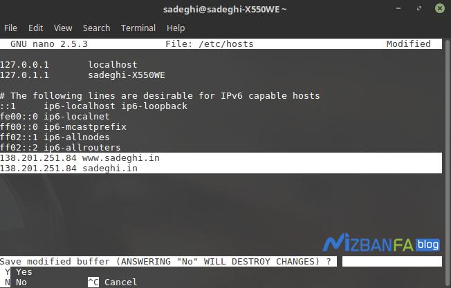 نحوه ست کردن ویرچوال هاست روی لینوکس