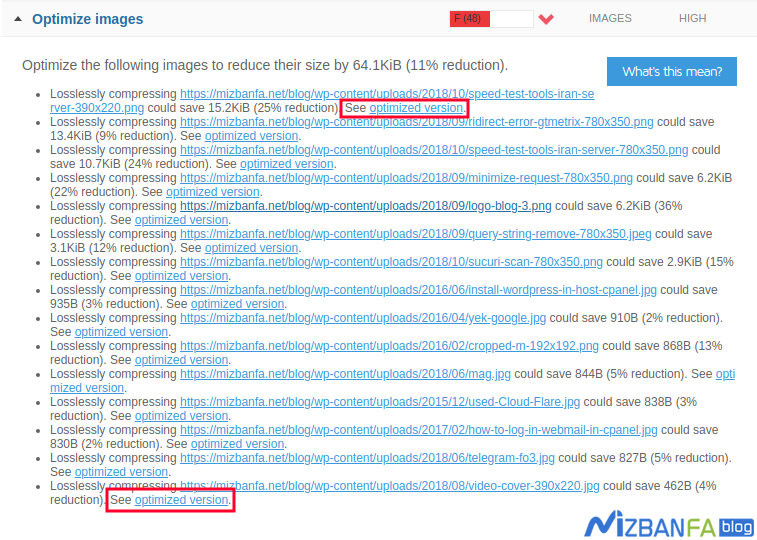 رفع خطای Optimize images در GTmetrix و بهینه سازی تصاویر سایت