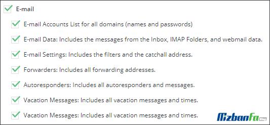 بکاپ گیری از ایمیل های دایرکت ادمین