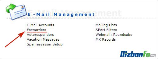 فوروارد چند ایمیل به یک آدرس