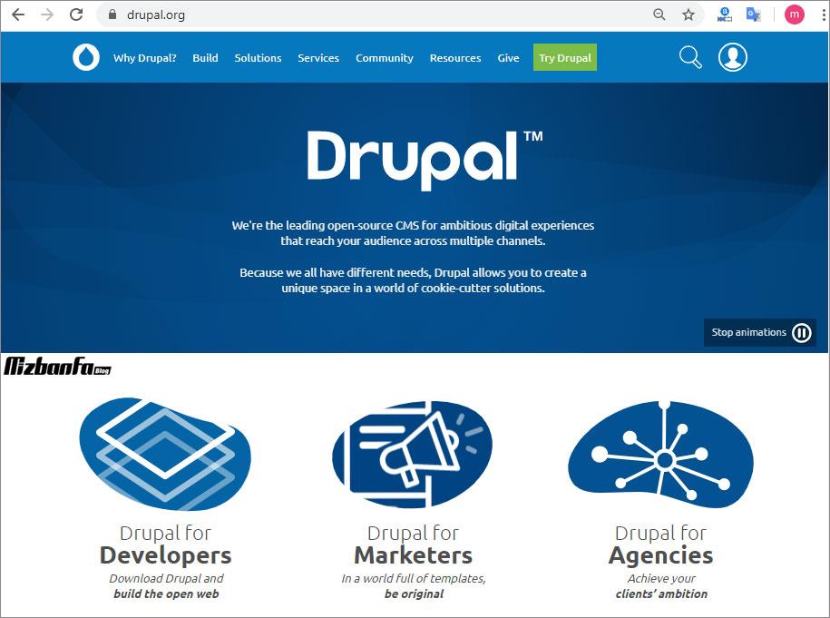 سیستم مدیریت محتوای دروپال