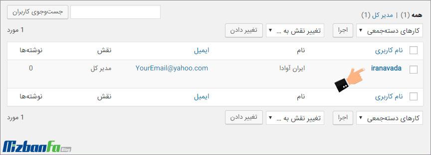 تغییر نام کاربری ادمین در وردپرس