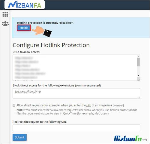 جلوگیری از مصرف پهنای باند در سی پنل