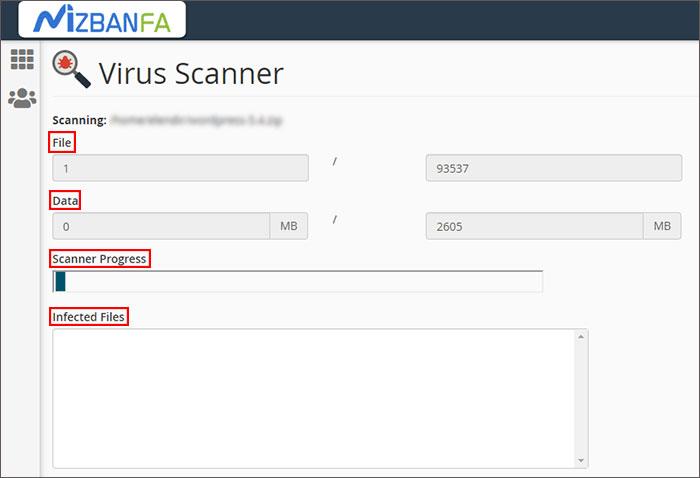 virus scanner سی پنل