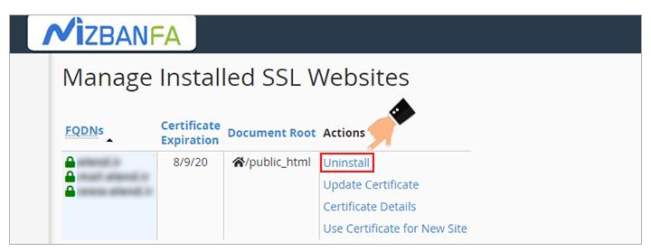امکان غیرفعالسازی ssl در سی پنل