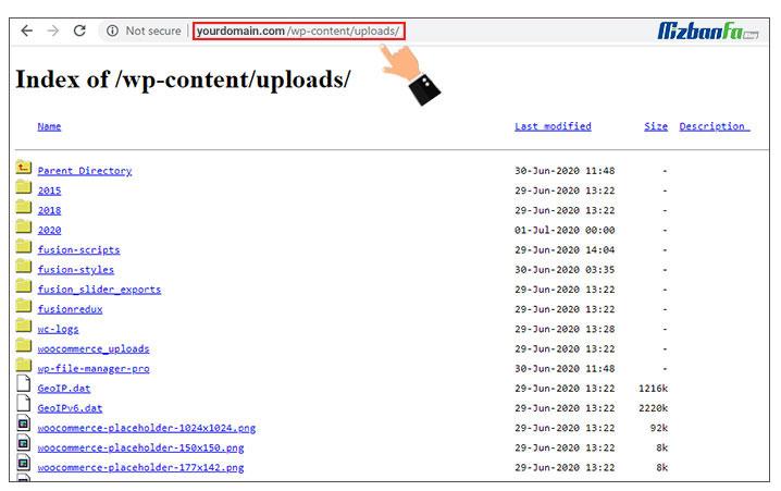 ضرورت غیرفعالسازی directory browsing وردپرس
