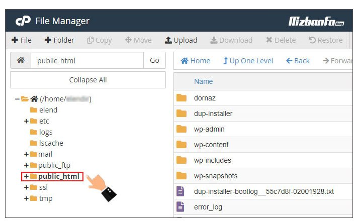 غیرفعال کردن directory browsing وب سایت وردپرسی