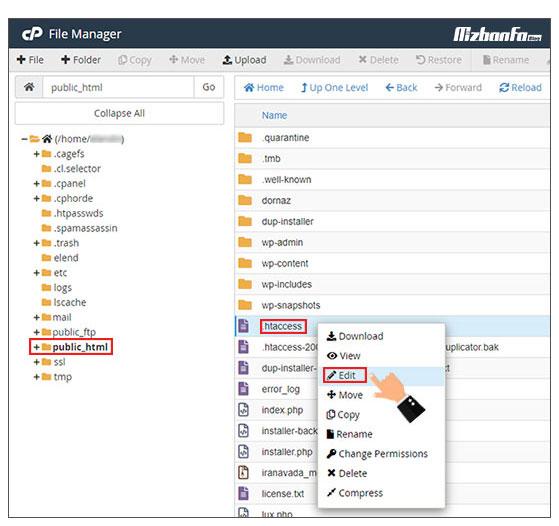 آموزش غیرفعالسازی directory browsing وب سایت وردپرسی