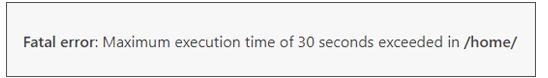 آموزش رفع خطای Maximum execution time of 30 seconds exceeded در وردپرس