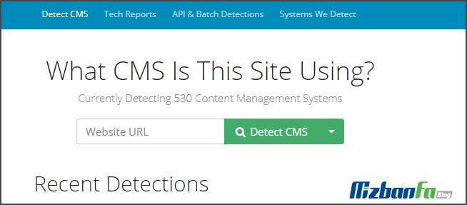 تشخیص سیستم مدیریت محتوای سایت با What CMS