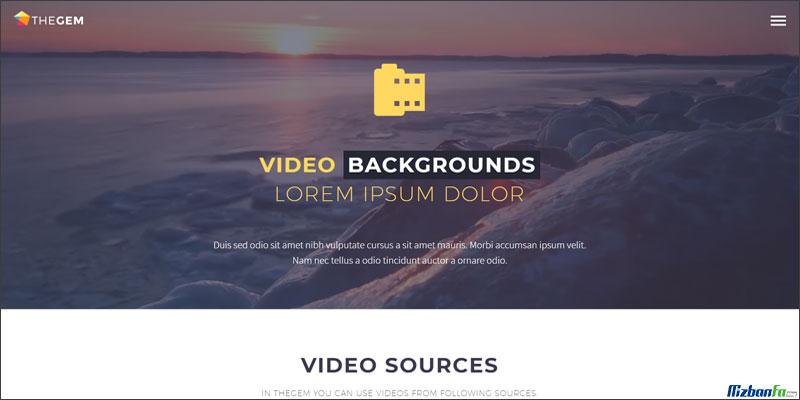 امکان ایجاد بک گراند پارالاکس و ویدیویی در قالب وردپرسی گوهر