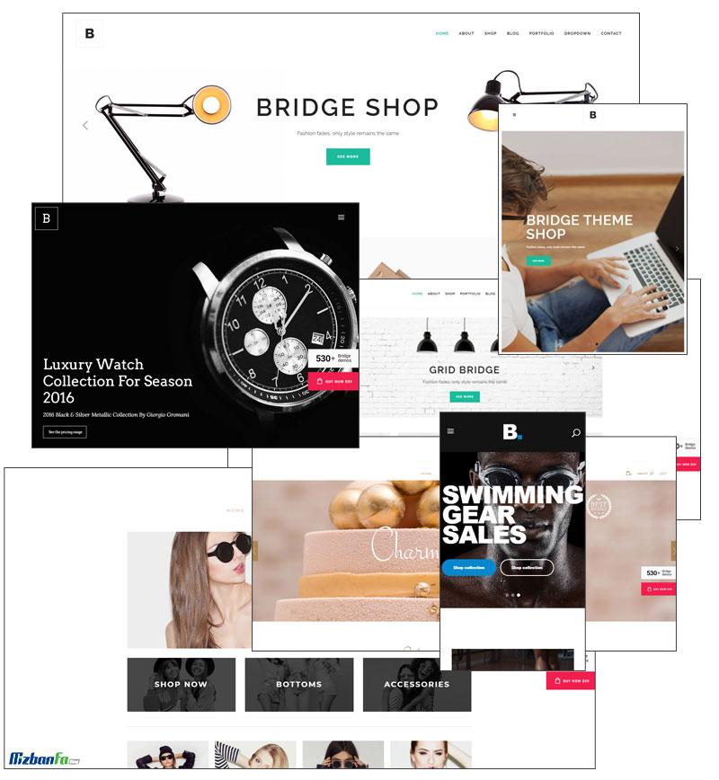 سازگاری کامل قالب پل با فروشگاه ساز ووکامرس