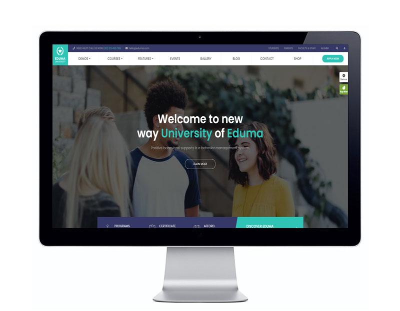 پیش نمایش قالب آموزش آنلاین ادوما