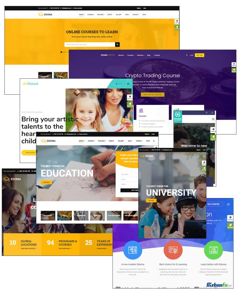 ارائه بیش از 20 وب سایت آماده متنوع در قالب ادوما وردپرس