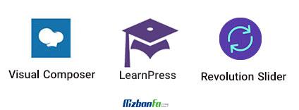 افزونه های تجاری قالب آموزش وردپرس ادوما