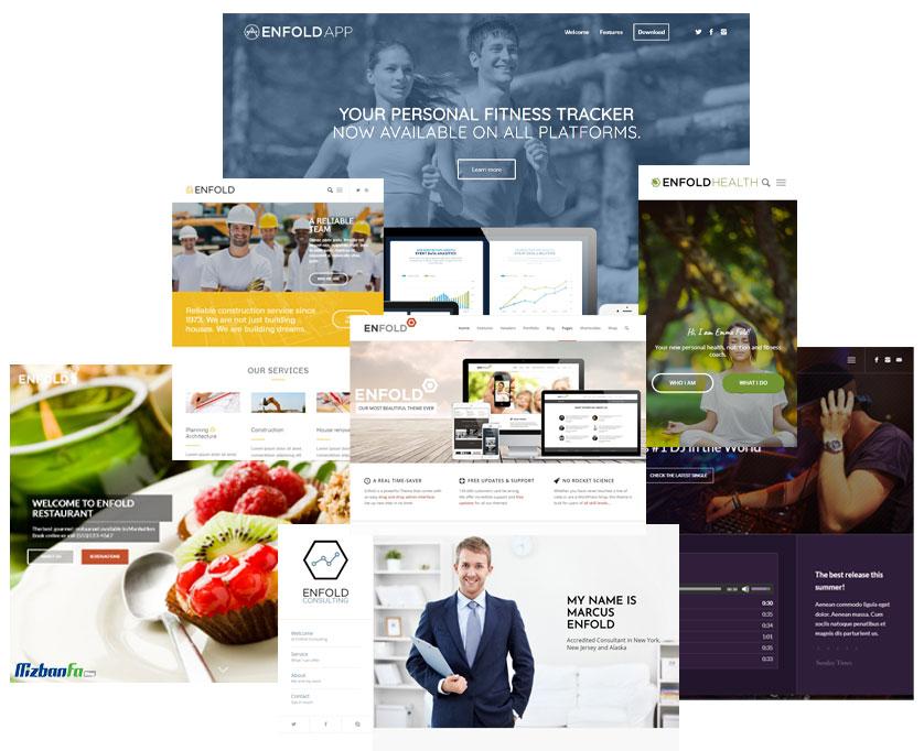ارائه بیش از 30 وب سایت آماده در قالب انفولد