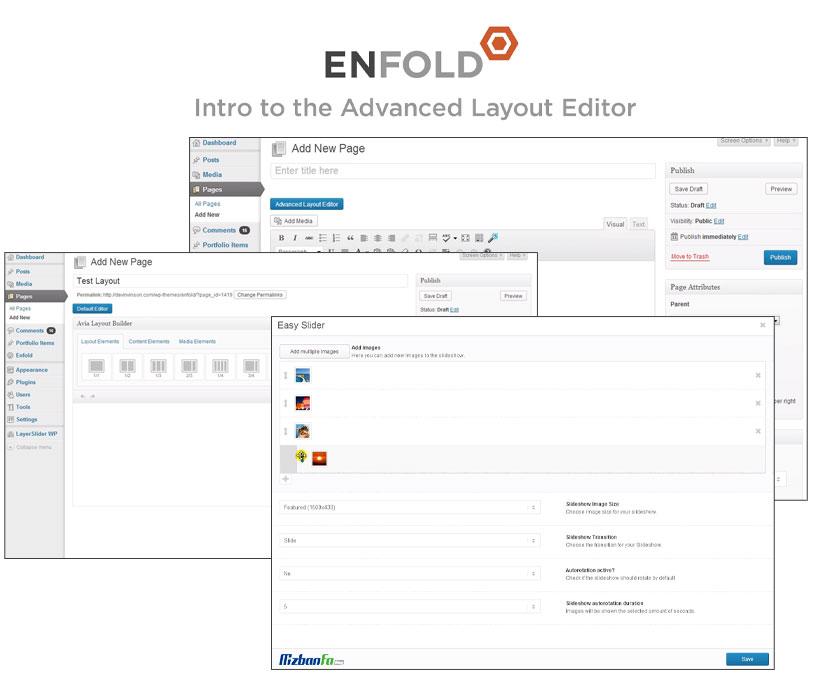 استفاده از صفحه ساز اختصاصی Advanced Layout Builder